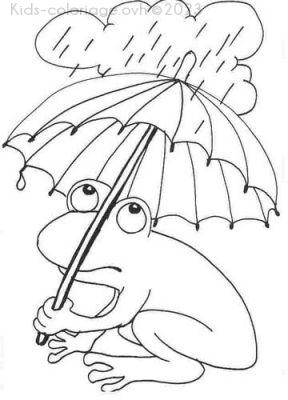Coloriage imprimer grenouille sous pluie - Dessin de grenouille a imprimer ...