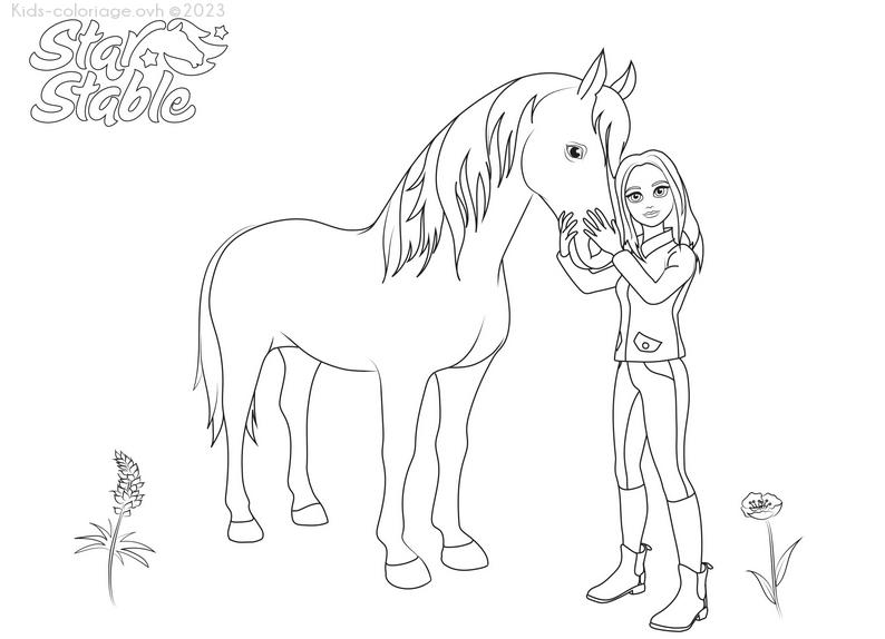 Coloriage imprimer cheval et cavaliere - Dessin cavaliere ...