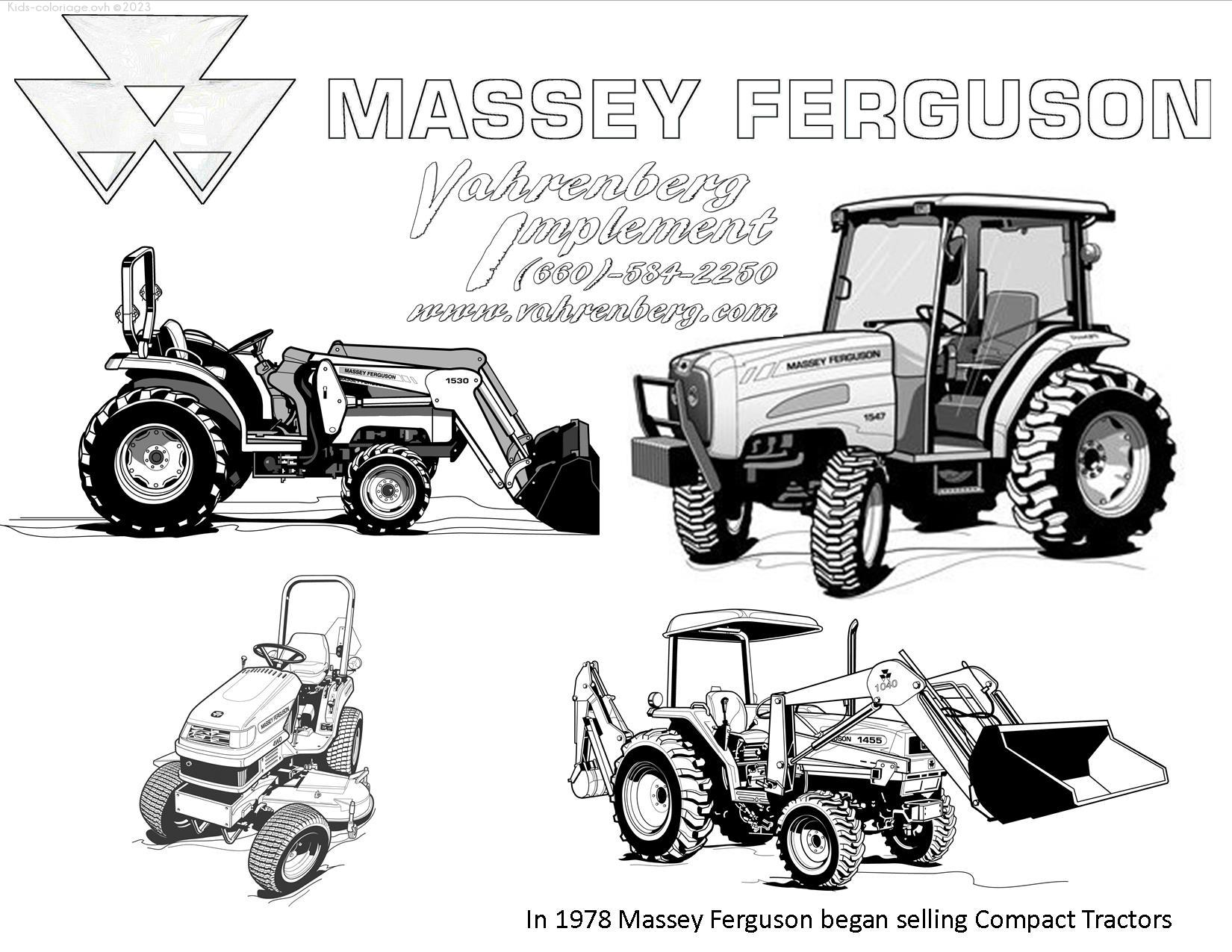 Coloriage à imprimer tracteur-ferme-coloriage-1