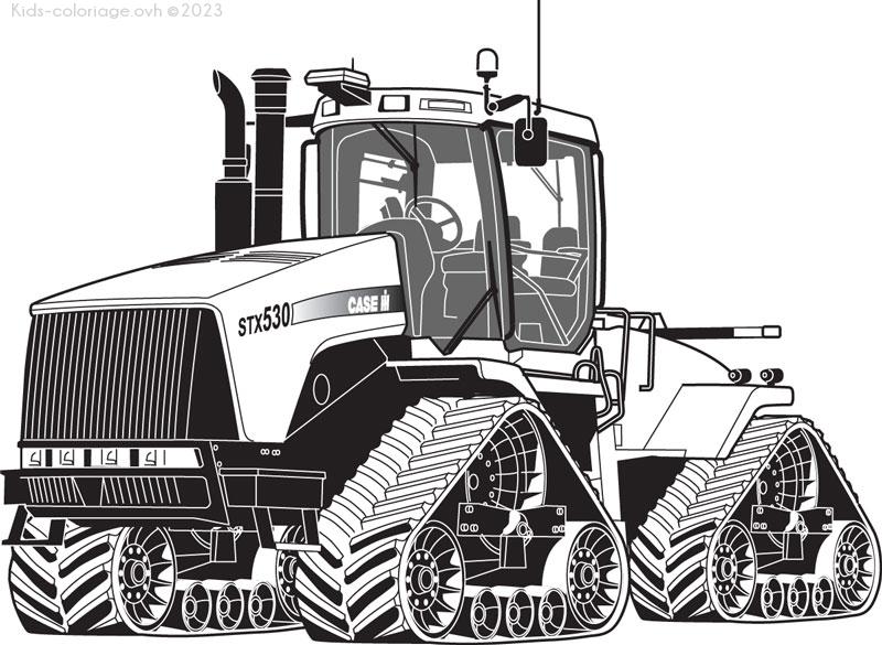 Coloriage imprimer tracteur ferme coloriage 5 - Image de tracteur a colorier ...