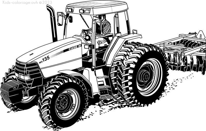 Coloriage à imprimer tracteur-ferme-coloriage-9
